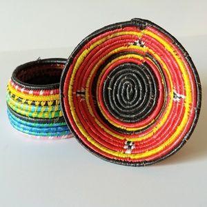 Other - Multicolor Woven Baskets Small Rattan Decor (2)